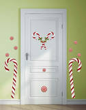 Candy Cane Peel and Stick Giant Wall Decals Wall Decal