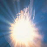 Sun Shinning Through Cloud in Sky, Lens Flare Photographic Print by Green Light Collection