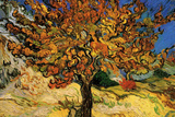 Vincent Van Gogh The Mulberry Tree Plastic Sign Wall Sign by Vincent van Gogh