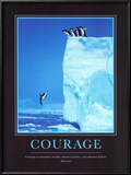Courage, en anglais Affiches par Steve Bloom