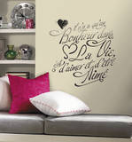 Bonheur Peel and Stick Wall Decals Wall Decal