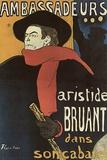Henri de Toulouse-Lautrec (Bruant in Ambassadeurs) Plastic Sign Plastic Sign by Henri de Toulouse-Lautrec