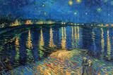 Vincent Van Gogh Starry Night Over the Rhone Plastic Sign Plastic Sign by Vincent van Gogh