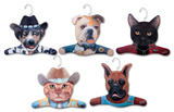 Cowboy Dog, Cowboy Cat, Bull Dog, Boxer, Black Cat Animal Hanger 5 Pack Novelty