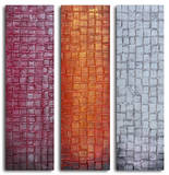 Trio of textured panels Prints