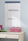 White Legal Pad Dry Erase Peel and Stick Wall Decals Wall Decal
