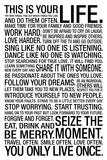 This Is Your Life - White Motivational Plastic Sign Znaki plastikowe