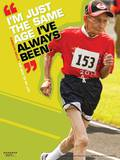 Active Older Adult Poster - Running Man Laminated Educational Poster Posters