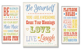 Be Yourself Typography Trio Oversized Wood Sign