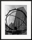 New York City, Statue of Atlas Gerahmter Fotografie-Druck von George Marks