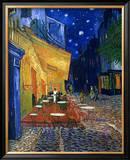 Den udendørs café på Place du Forum, Arles, om natten, ca.1888 Indrammet giclee-tryk af Vincent van Gogh