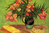 Vincent Van Gogh Still Life Vase with Oleanders and Books Plastic Sign Plastic Sign by Vincent van Gogh