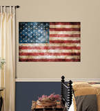 Vintage American Flag Peel and Stick Giant Wall Decals Wall Decal