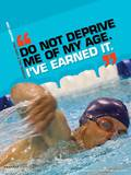 Active Older Adult Poster - Swimming Laminated Educational Poster Prints