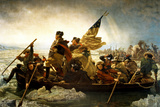 Emanuel Leutze Washington Crossing the Delaware River Plastic Sign Wall Sign by Emanuel Leutze