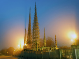 Watts Towers at Dusk, Watts, Los Angeles, California, USA Photographic Print by Green Light Collection
