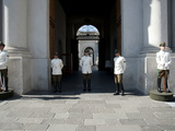 Guards in Front of the Palacio De La Moneda, Plaza De La Constitucion, Santiago, Chile Photographic Print by Green Light Collection