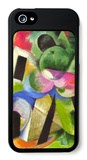 House with Trees iPhone 5 Case by Franz Marc