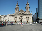Facade of the Catedral Metropolitana, Plaza De Armas, Santiago, Chile Photographic Print by Green Light Collection
