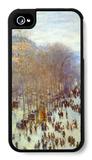 Boulevard Capucines iPhone 4/4S Case by Claude Monet