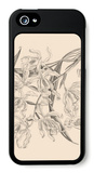 Orchid on Khaki II iPhone 5 Case by Samuel Curtis