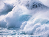 Heavy Water Waves Crashing in Sea Photographic Print by Green Light Collection