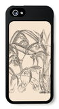Orchid on Khaki I iPhone 5 Case by Samuel Curtis