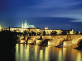 Evening Praha Karluvmost Czechosl Photographic Print by Green Light Collection