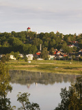 Town View From Viljandi Jarv Lake at Morning, Viljandi, Estonia Photographic Print by Green Light Collection