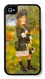 Girl with Parasol iPhone 4/4S Case by Pierre-Auguste Renoir