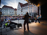 Concert by Ukrainian Folk-rock Group Svjata Vatra, Town Hall Square, Tallinn, Estonia Photographic Print by Green Light Collection