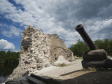Ruins of Knight's Castle, Koknese, Daugava River Valley, Latgale Region, Riga, Latvia Photographic Print by Green Light Collection