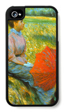 Lady in a Meadow iPhone 4/4S Case by Federico Zandomeneghi