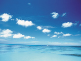 Seascape with Clouds And Blue Sky Photographic Print by Green Light Collection