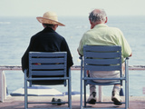 Elderly Couple Nice France Photographic Print by Green Light Collection