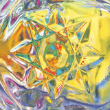 Crystal with Abstract Multicolored Background Photographic Print by Green Light Collection
