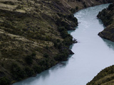 High Angle View of a River, Rio Baker, Aysen Region, Patagonia, Chile Photographic Print by Green Light Collection