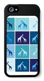 Blue Giraffe Family iPhone 5 Case by  Avalisa