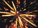 Close Up of Ignited Fireworks Photographic Print by Green Light Collection