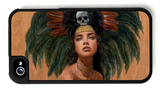 Feathers and Skulls iPhone 4/4S Case by Charmaine Olivia