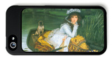 A Young Woman in a Boat iPhone 5 Case by James Tissot