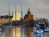 Uspenski Orthodox Cathedral And Katajanokka Island Marina at Dusk, Helsinki, Finland Photographic Print by Green Light Collection