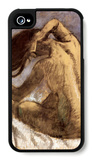 Female Combing Hair iPhone 4/4S Case by Edgar Degas
