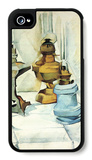 Still Life with Three Lamps iPhone 4/4S Case by Juan Gris