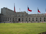 Tourists in Front of Palacio De La Moneda, Plaza De La Constitucion, Santiago, Chile Photographic Print by Green Light Collection