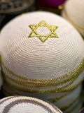 Yarmulke at a Market Stall, Jerusalem, Israel Photographic Print by Green Light Collection