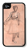 Ballet Dancer in Threequarter Front View iPhone 4/4S Case by Edgar Degas