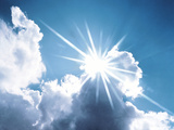 Sun Shining Behind the Clouds Photographic Print by Green Light Collection