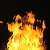 Close Up of Flames Photographic Print by Green Light Collection