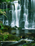 Waterfall Hebden Gill N Yorshire England Photographic Print by Green Light Collection